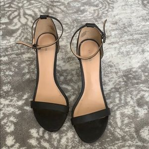 Express Black Wedge Sandals
